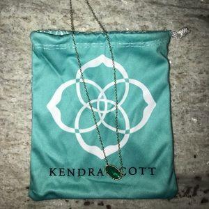 Kendra Scott Elisa Pendant Necklace in Emerald